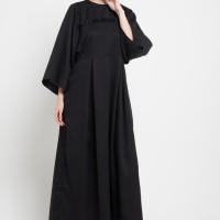 Zumara Long Sleeve Ruffle Gamis Black