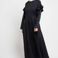 Zumara Ruffle Sleeve Gamis Black