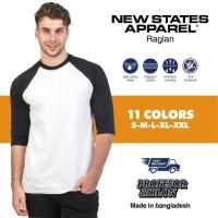 Kaos Baju Polos NSA 7260 Raglan 3/4 Premium Original Murah S M L XL