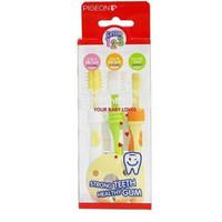 Pigeon Training Toothbrush Set Lesson 123 1 2 3 / Sikat Gigi Bayi