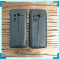 Case Nokia 216 N216 Softcase Hitam Leather Soft Case Silikon Casing