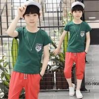 Setelan Kaos Celana Selutut Anak Laki-Laki / Set Baju Bayi Import