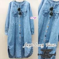 Baju Tunik Wanita Jumbo Jeans Fit XXL | Arga Long Tunik Original