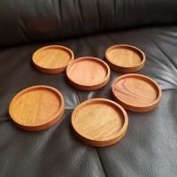 tatakan gelas kayu wood coaster 10cm