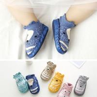 Sepatu Bayi balita non-slip kaus kaki sepatu bot bayi (unisex) x01 - Biru, 13CM