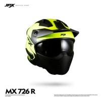 HELM FULL FACE JPX MX NEW YELLOW BLACK METTALIC