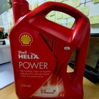 Oli Shell Helix Power SAE 0W40 API SN Plus Galon 4 liter
