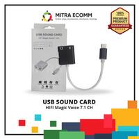 KONEKTOR USB SOUND CARD KABEL TYPE C TO AUDIO 45105