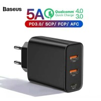 BASEUS Kepala Charger Batok Charger Fast Charging 4.0 PD 3.0 5A 60W