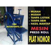 Mesin Cetak Plat Nomor Kendaraan Roll Press Manual