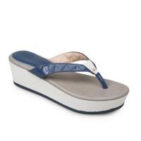 Symbolize Sonia Wedges Strappy Sandal Wanita - Biru