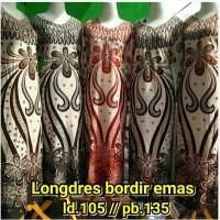 longdres bordir busui - gamis batik ibu