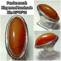 cincin batu akik pandan merah 351610