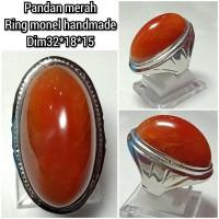 cincin batu akik pandan merah 32185