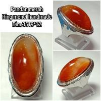 cincin batu akik pandan merah 351912