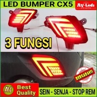 LAMPU LED REFLECTOR BUMPER MAZDA CX5 CX-5 2012 - 3 Function