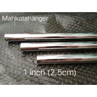 Pipa Bulat Besi Chrome 150cm (1,5meter)