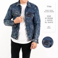 Jaket Jeans Pria / Jaket Pria Hitam Navy Premium Quality