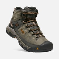KEEN Men's Targhee III Waterproof MID Black Olive/Golden Brown