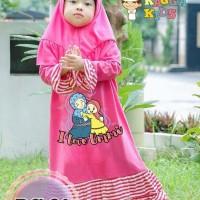 R21 gamis anak perempuan/gamis kaos anak/baju muslim anak/ ragga kids - Size L