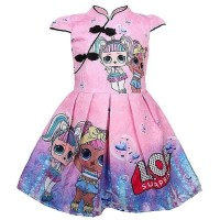Dress Cheongsam Anak Perempuan LOL Surprise SOFT PINK