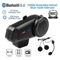 Intercom Helm Maxto M2 Bluetooth Helm Versi 5.0 Confrence 6 Rider
