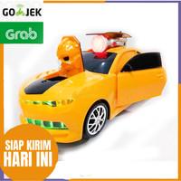 Robot Transform 2 in 1 Kuning Mobil Mainan Keren