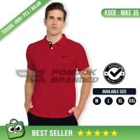 Kaos Kerah Nike Murah - Polo Shirt Merah