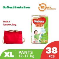 Buy 1 Huggies Gold Pants Popok Celana XL 38 get Free Diaper Bag