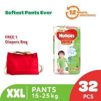 Buy 1 Huggies Gold Pants Popok Celana XXL 32 get Free Diaper Bag