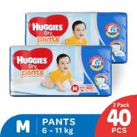 Huggies Dry Pants Popok Celana M 40 2 Pack