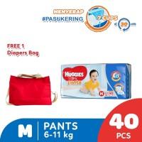 Huggies Dry Pants Popok Celana M 40 Free Diaper Bag