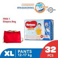 Huggies Dry Pants Popok Celana XL 32 Free Diaper Bag
