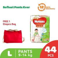 Buy 1 Huggies Gold Pants Popok Celana L 44 get Free Diaper Bag