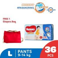 Huggies Dry Pants Popok Celana L 36 Free Diaper Bag