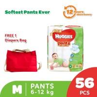 Buy 1 Huggies Gold Pants Popok Celana M 56 get Free Diaper Bag