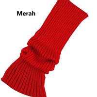 Leg Warmer / Kaos Kaki Hangat Wanita - Merah