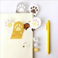 Terbaik Mohamm Stationary Flakes Cat Claw Shaped Bookmark Cat Cute