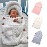 Promo Nursery Baby Swaddling Soft Blanket born Infant Knit Winter