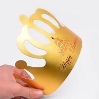 Unik 10Pcs / Lot Topi Mahkota Warna Emas untuk Pesta Ulang Tahun