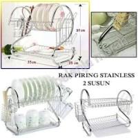 Rak Piring 2 Susun - Rak Piring Stainless