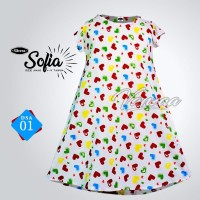 New DRESS Lenny |DASTER Anak CANTIK Bunga Ory VANZAA Colletion | DLV09