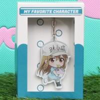 Gantungan Kunci Anime karakter Platelet D - Hataraku Saibou