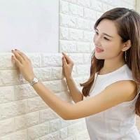 Wallpaper 3D Foam Batu Bata Wall Sticker Rumah Cat Dinding Dekorasi Ok