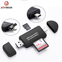 JOYSEUS OTG 5 in 1 Card Reader Type C Micro USB TF SD Flashdisk Camera