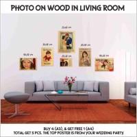 5x Foto Dinding dari kayu untuk menghiasi rumah pengantin baru