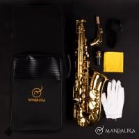Saxophone Alto Mandalika Original Impor Taiwan Full Set Hardcase