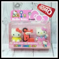 (PROM0) Set Penghapus Hello Kitty Mobil & Sepeda Motor