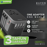 Hippo Travel Adapter Universal Raven Universal Power Socket