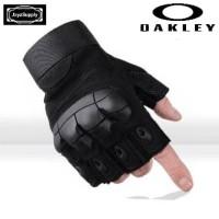 Sarung Tangan Oakley v.2 Motor Tactical Half Gloves Army Military - BL